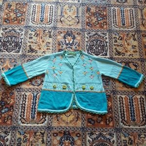Oilily blue cotton cardigan size 98 or 3 years